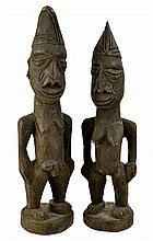 PAIR of African Carved Wood Figures