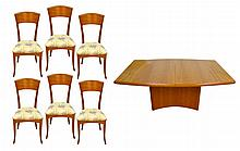 Danish Modern Table by Skovby, 6 Sibau Chairs