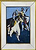 Oil Painting, The Dancers, T L Laughlin, 1962 NY