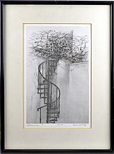 Bill Colby Stairway Print, Signed Limited Edition