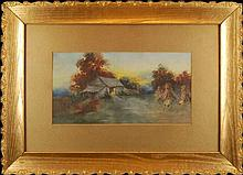 N. Doss Watercolor Painting, Homestead