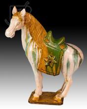 Asian Glazed Ceramic Horse Figure