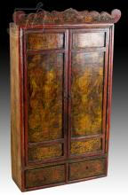 20th C. Asian Cabinet w/ Figural Image