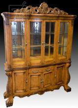 20th C. Wooden Breakfront Cabinet