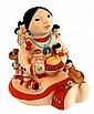 1989 Cleo Teissedre Hopi Pottery Storyteller