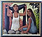 1960's Oil Painting, Signed, Polynesian Women