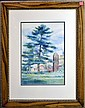 Watercolor Dated 1922, Signed Lowry, Michigan