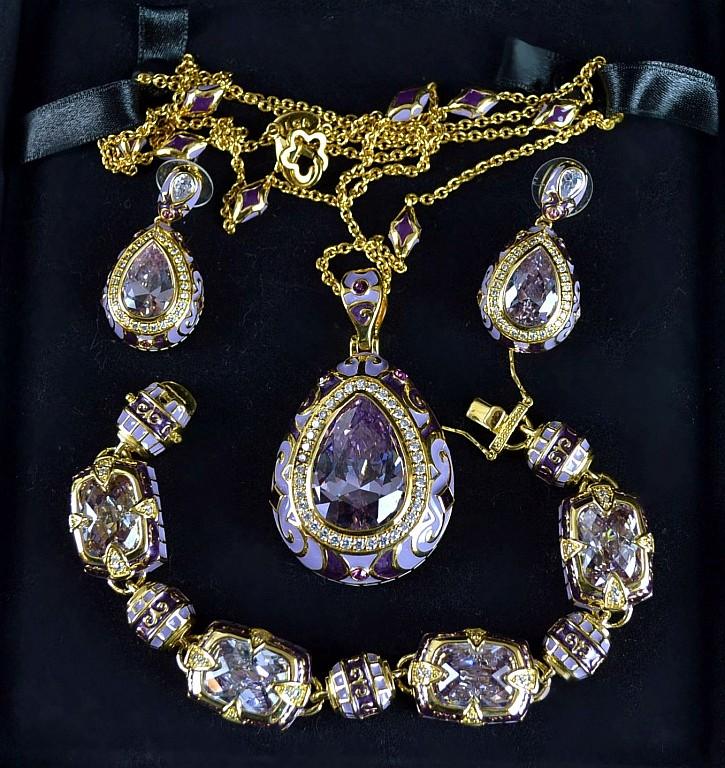Lauren G Adams Suite w/ Necklace Earrings & Bracelet