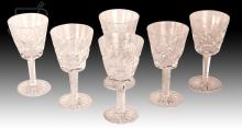 6 Pc. Waterford Crystal Sherry Glassware Lot