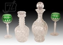 5 Pc. Waterford Decanter & Wine Hock Lot