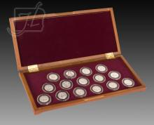 1999-2009 Gold Plated Quarters w/ Display Chest