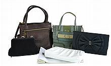 6 Pc. Cross Body, Evening & Make Up Bag Lot