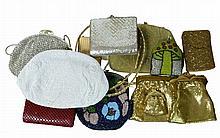 13 Pc. 12K G P Cigarette Case & Evening Bag Lot