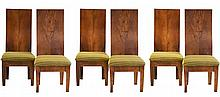 Matching Set of 6 Curved Back Chairs