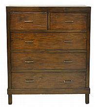 Contemporary Tall Chest w/ 2 Over 4 Drawer