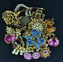 Designer Costume Jewelry Pins, Bracelet, Earrings
