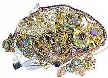 Rhinestone Costume Jewelry Lot