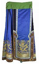 Vintage Embroidered Silk Asian Skirt