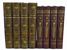 8 Pc. Antique William Sloane Napoleon Book Lot