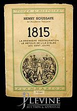 Circa 1914 Napoleon 100 Days Exile Elba Book