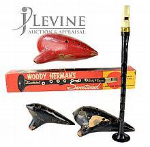 Musical Instruments Ocarina, Woody Herman Clarinet