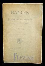 1904 Napoleon Politics Book by R. de Seze