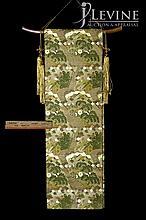 Vintage Asian OBI on Walnut Hanger & Tassels