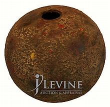 Rounded Pottery Vessel