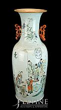 Chinese Ceramic Temple Vase w/o Stand #1