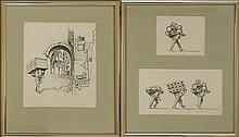 Michael Allen Hampshire (1933-2013) Hamal Porter Drawings