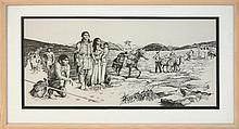 Michael Allen Hampshire (1933-2013) Evolution of the American West Drawing