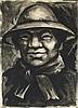 Manner Of Camilo Egas (1899-1962) Portrait Watercolor, Camilo Egas, Click for value