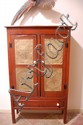 Antique American Pie Safe Punched Panels