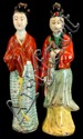 PAIR Chinese Female Porcelain Figurines