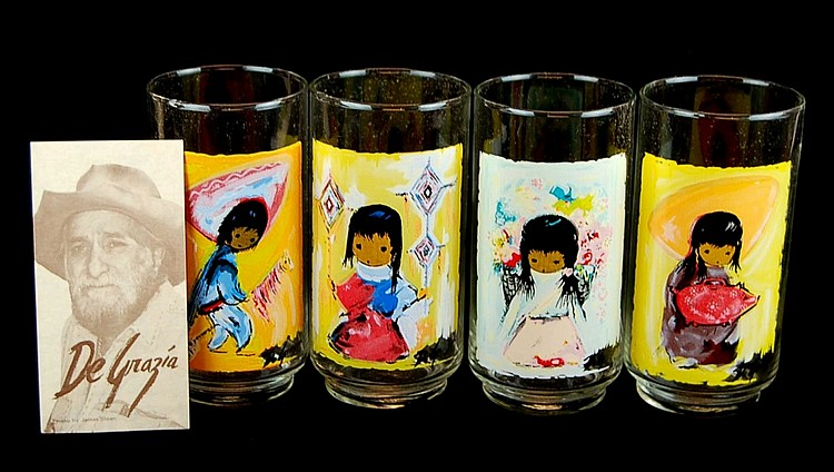Lot of DeGrazia Glasses