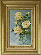 Badea Rose Still Life Oil Painting, 1992