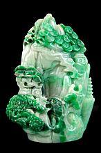 Carved Jade Landscape Scene