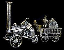 Sterling Miniature Steam Engine & Barrel Cart #1