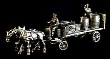 Sterling Silver Miniature Horse-Drawn Wagon #2