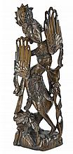 Balinese Carved Wood Sculpture - Female Deity