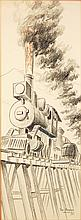 Tom Berger Locomotive Drawing