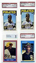 (4) Graded Barry Bonds Baseball Cards