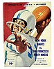 1959 NFL Program, Utah, New York Giants VS 49er's
