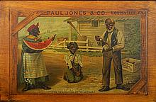 Paul Jones Whiskey Black  Americana Advertisement
