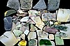 Multicolored Loose Uncut Jade Slab and Scrap Lot