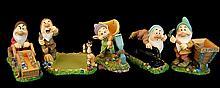 Retired Disney Snow White Seven Dwarfs Desk Set
