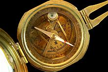 WWI Stanley London Brass Natural Sine Compass