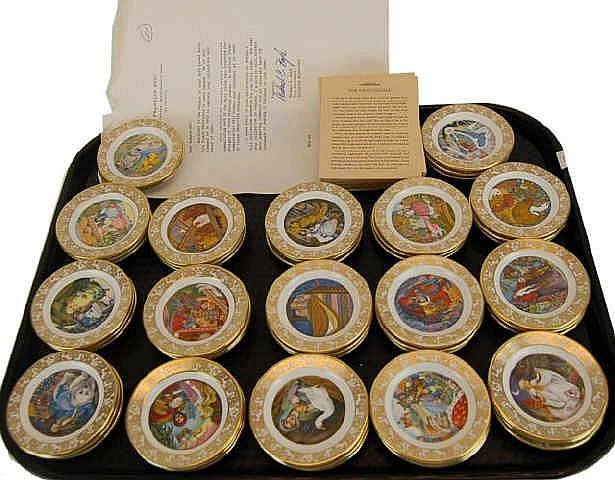 Lot of Franklin Mint Fairy Tale Miniature Plates