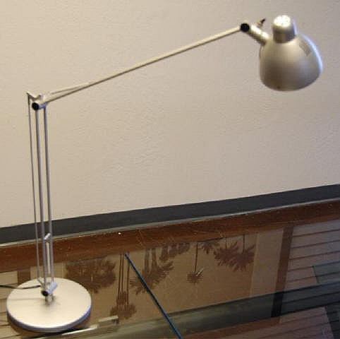 Chrome Desk top Work Lamp