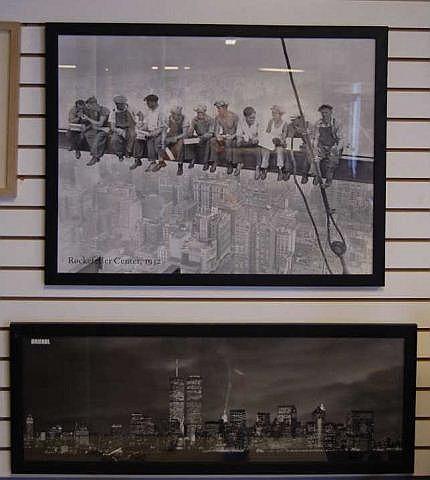 Pair of New York Construction & Skyline Prints